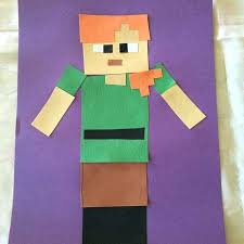 Minecraft Paper Craft Papercraft Steve With Armor And Sword