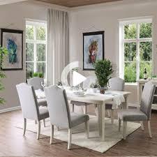 möbel amerika sope contemporary white 7 teiliges ess set