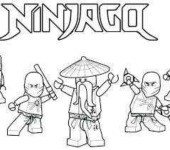 Ninjago Golden Dragon Coloring Pages Ninja S Lego