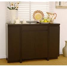 Furniture Of America Holland Modern Red Cocoa Dining Room Buffet Cabinet Sideboard Storage