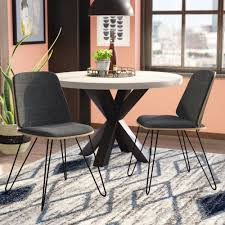 Wade Logan Callendale Mid-Century Modern Upholstered Dining Chair ... White Ultra Modern Ding Table Wtwo Pedestal Legs Glass Top Classic Chair Room Ideas Chair Chairs Set Of 2 Grey Faux Leather Z Shape C Base Wade Logan Cndale Midcentury Upholstered Set Classics Contemporary Brindle Finish Artsy Tables Kitchen And Chairs Bal Harbor Taupe Pier 1 Gloss Black Fabric Designer Breakpr Luxury Apartment Designs For Young Criss Cross In Espresso Room