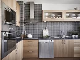 cuisine bois blanchi décoration de cuisine en noir et blanc osco services et travaux