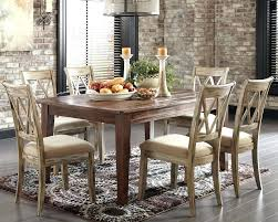 Kitchen Striped Laminate Floor Stone Wall Rustic Dining Chairs Room Set