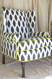 Grey Dining Room Chair Slipcovers by Living Room Black And White With Yellow Wing Chair Slipcover For