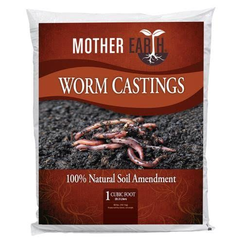 Mother Earth Worm Castings - 1 Cubic Feet