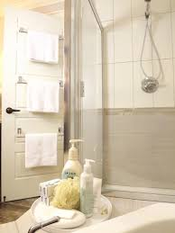 Attach Multiple Towel Bars To The Back Of The Bathroom Door   For ... Bathroom Shelving Units Shower Rack Walmart Pottery With Barn Canfield Hdware Rejuvenation Tile Tips For A Better Train Chrome Luggage Towel Railway Shelf With Bar Au Pottery Barn Train Rack Ideas Pinterest 2perfection Decor Ensuite Reno Reveal Taymor 02d1047corb Paris Hotel Or Style Extraordinary Otographs Mirror New Vintage Ashland Fixture Ebay Wall Mounted Wine Glass Your Bath Hotelstyle