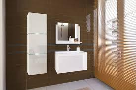 weiße möbel für badezimmer mit waschbecken lorent 60 cm
