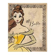 Attractive Inspiration Ideas Disney Princess Canvas Wall Art Also SPECTACULAR Deal On Belle Fashionista