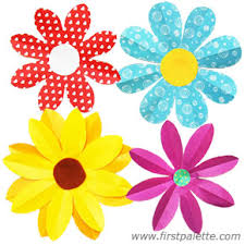 Folding Paper Flowers Craft 8 Petal More Flower Instructions
