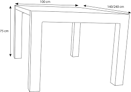 dimension table de cuisine obasinc