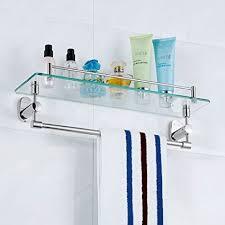 edge to regal badezimmer glas regal edelstahl tuch