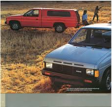 100 1991 Nissan Truck 1987 Hardbody D21 Dealer Brochure US Market NICOclub