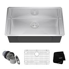 Kohler Kitchen Sink Protector by Shop Kraus Handmade 18 In X 30 In Single Basin Stainless Steel