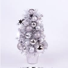 Silver White Gold Foil Material Mini Size Christmas Tree
