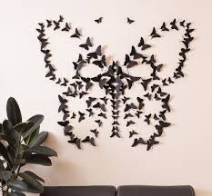 Wall Art Designs Butterfly Black 3d Wallpaper Animal Home Decorate