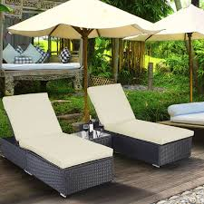 Costway 3 Piece Wicker Rattan Chaise Lounge Chair Set Patio Steel Furniture  Black Wicker St Kitts Lounge Chairs Set Of 2 Panama Jack Key Biscayne Antique And Brown Outdoor Chair Set With Ottoman Piece Walker Edison Fniture Company Removable Cushions Wood Patio Gray 2pack Telescope Casual Larssen Cushion Swivel Rocker Side Table Abbots Court Cosco Alinum Chaise Costway 3 Wicker Rattan Steel Black Latvia Midcentury Ottoman By Corvus Priest Calvin Hee From Hay Chairset Blue