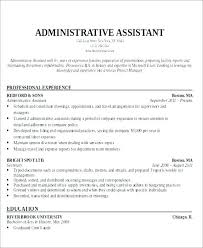 Sample For Executive Objective Assistant Resume Objectives Administrative Admin Asst Office Best