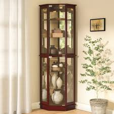 andover mills biali lighted corner curio cabinet reviews wayfair