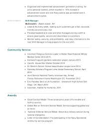 Military Service Resume 3 Community How To List On Example