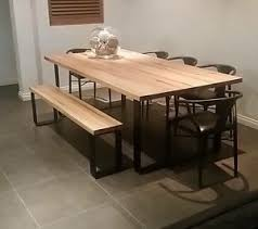 PLATINUM DINING SET KING TABLE BENCH SEATS