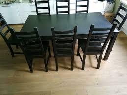ikea tisch ausziehbar mit 8 stühlen