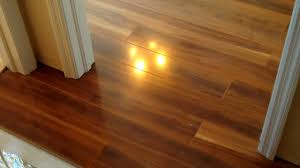 no threshold a door sill is not necessary for laminate floor