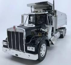 100 New Kenworth Trucks KENWORTH W900 BLACK SILVER DUMP TRUCK NEW RAY DIECAST CAB PLASTIC