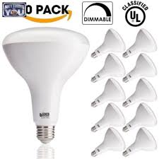 10 pack 1400 lumens flood light bulb dimmable indoor outdoor
