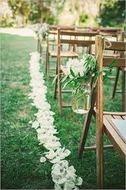 Mason Jar Flowers Aisle Decoration
