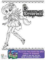 Download These My Little Pony Equestria Girls Legend Of Everfree Coloring Pages To Enjoy Before