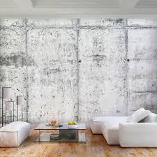 details zu vlies fototapete steinwand beton optik grau tapete wohnzimmer wandbilder 127