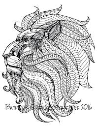 Full Image For Free Printable Animal Coloring Pages Adults Only Royal Lion Head Adult