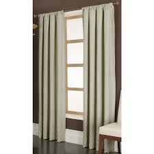 shop allen roth parksley 84 in ivory cotton rod pocket light