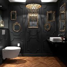 wunderschöne schwarze badezimmer dekorationsideen