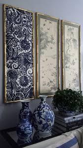 DIY Indigo Wall Art With Framed Fabric