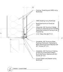 Louver Head Flashing At Aluminum Panels