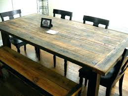 Farmhouse Dining Room Sets Rough Wood Furniture Table Dark Rustic