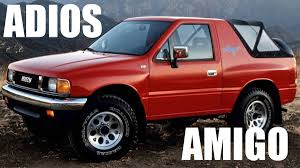 7 SUVs From The 1990s You Just Don't See Anymore | Autoweek Amigos Mobile Car Wash Is A And Detailing Company In Junkyard Find 1993 Isuzu Amigo The Truth About Cars Rigoberto Rigo Reyes Of Club 1957 Chevy 4 Door Toyotas For Sale Houston Tx 77011 Disney Pixar Sarge With Howitzer Cannon Radiator Springs Deluxe Sus Auto Center Dealers 12233 Valley Blvd El Monte How To Install Mods Euro Truck Simulator 12 Steps Used Ontario Ca Trucks Remate Sales Dealer Fresno Enterprises Amigos Truck Wrap Sheffield Cj Signs Announcing An Exciting New Partnership With Baja Next