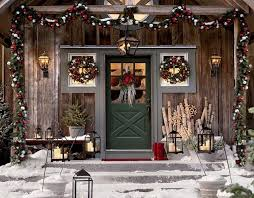 New Year And Christmas Wreath On The Door
