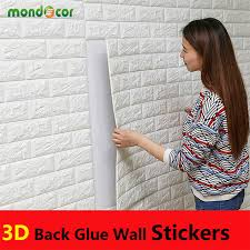 PE Foam 3D Wall Stickers Brick Pattern Waterproof Self Adhesive Wallpaper Room Home Decor For Kids