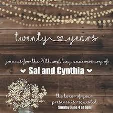 Rustic Wedding Anniversary Invitation 25th Invite