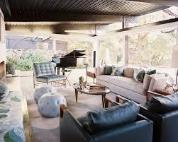 Endearing Mid Century Modern Rustic Living Room Canyon Retreat Midcentury San Francisco