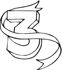Click To See Printable Version Of Number 3 Coloring Page