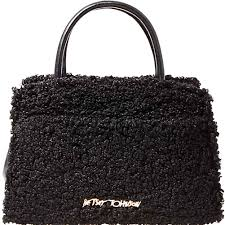 betsey johnson shop betsey johnson bow you see it fuzzy satchel