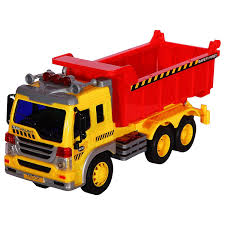 100 Kids Dump Trucks Friction Powered Construction Truck With Lights Sound And Working Headlights Toy Vehicle Moves Around Changes Directions On Contact Includes
