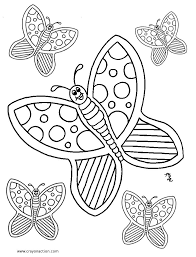 Butterfly Coloring Pages Crayon Action Colouring And Pdf