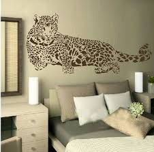 Animal Wild Zoo Leopards Cheetahs Lying Wall Decal Sticker Baby Kids Living Room Stickers