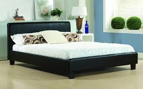 Birlea Brooklyn Black 6ft Super Kingsize Faux Leather Bed Frame By
