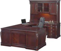 Realspace Broadstreet Contoured U Shaped Desk Dimensions by New U Shaped Office Executive Desk With Hutch Cherry L Shape