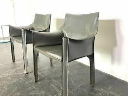 2 cassina cab stühle leder sessel designer chairs stuhl
